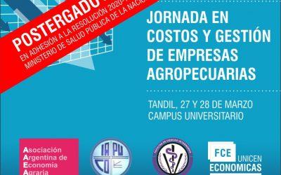 I Jornadas de Costos y Gestión en Empresas Agropecuarias (2do. semestre de 2020)