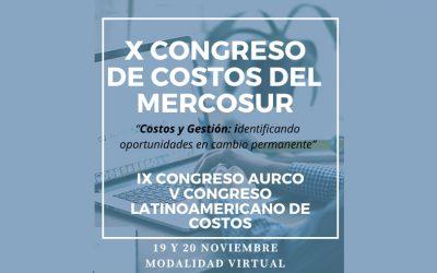 X Congreso de Costos del Mercosur (19 y 20 de noviembre)