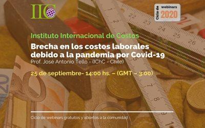 5to. Webinar IIC: Brecha en los costos laborales debido a la pandemia por Covid-19 (25 de septiembre)