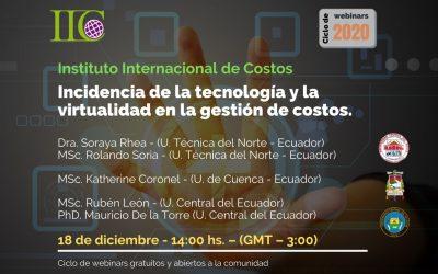 Incidencia de la tecnología y la virtualidad en la gestión de costos (IIC)