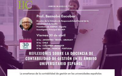 Webinar IIC: Docencia de Contabilidad de Gestión en el ámbito universitario español