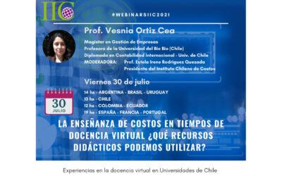 """5to webinar IIC 2021: """"La enseñanza de costos en tiempos de docencia virtual: ¿Qué recursos didácticos podemos utilizar?"""""""